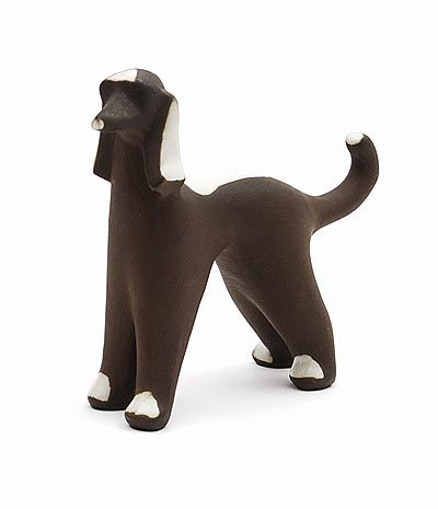 Abstract ceramic sculpture of a dog design execution by Jaap Ravelli Valkenburg Z-H / the Netherlands ca.1955