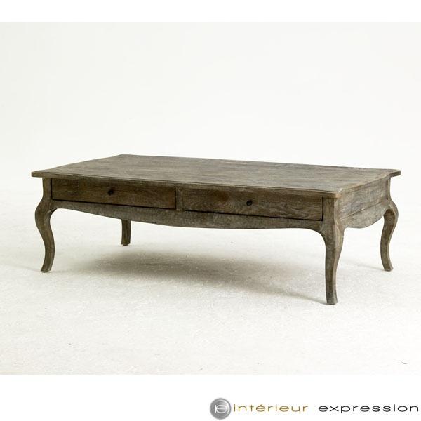 """Table Basse Patinée Cérusée """" Esprit Maison de Famille """"  Coffee Table Bristol  Wood"""