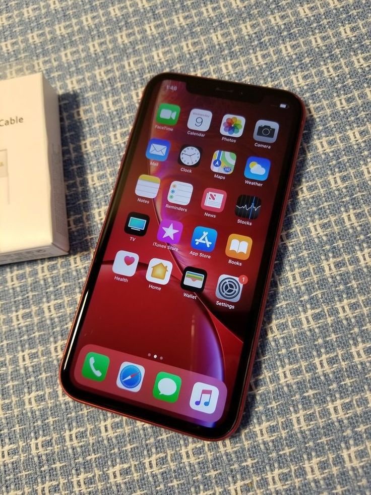 Apple iphone xr a1984 productred 128gb att cricket