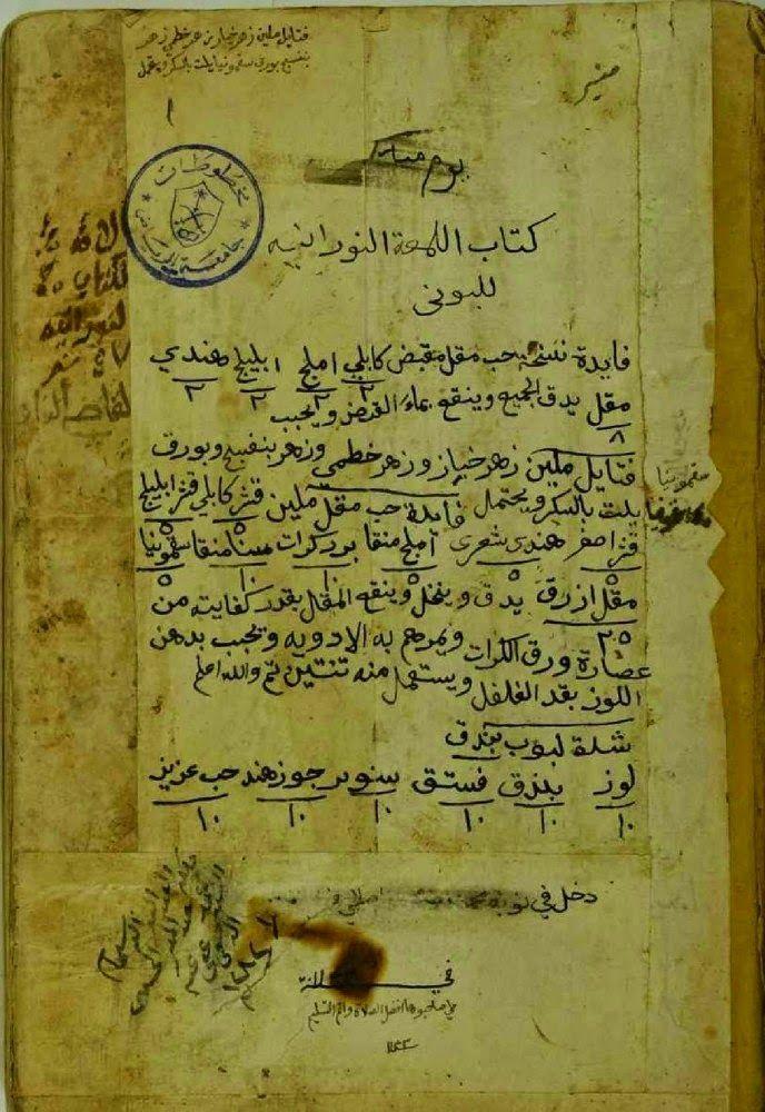 المخطوطة رقم166:اللمعة النورانية في الأوراد الربانية ~ الخزانة للكتب و المخطوطات الروحانية