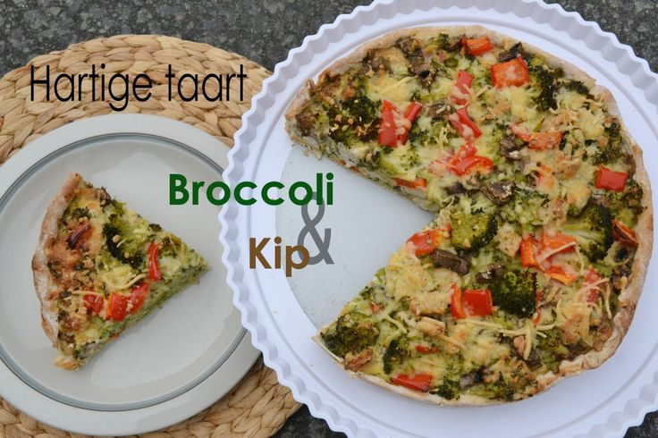 Hartige taart: Broccoli & Kip, heb het net gemaakt en hij smaakt heerlijk!