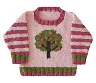 Apple Tree Crew Neck pattern by Gail Pfeifle, Roo Designs