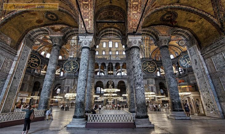 Columns from Temple of Artemis recycled to Hagia Sophia (Ayasofya)