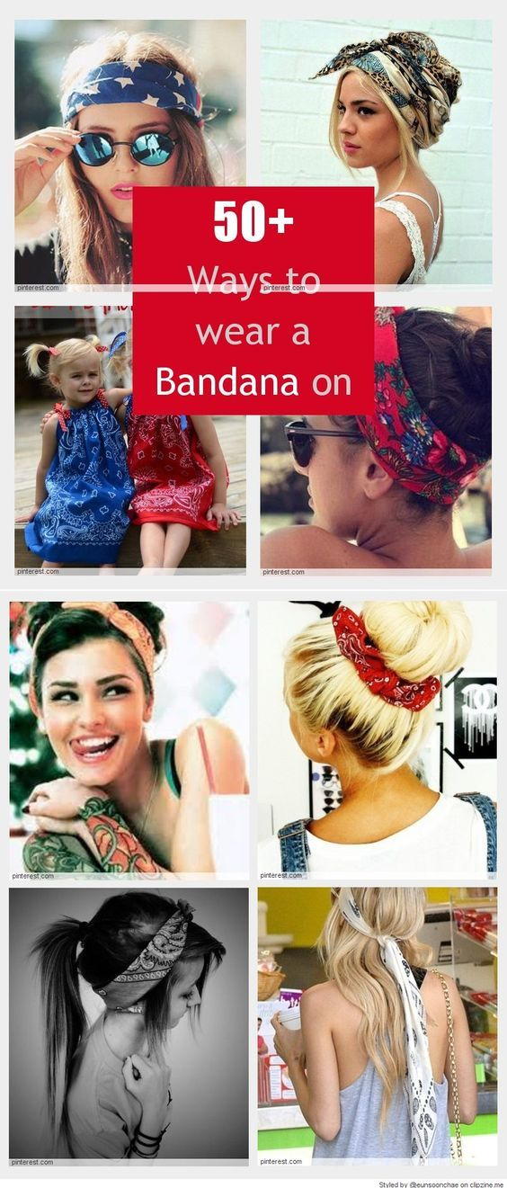 how to style hair with bandana cool ways to wear a bandana tips 5113