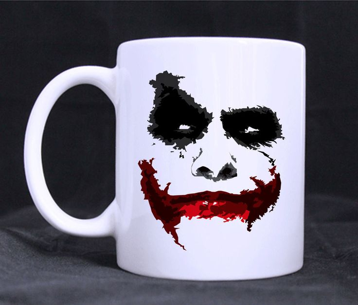 Joker Face Funny Art Mugs Custom White Ceramic 11oz Gift Mug Coffee Tea Cup