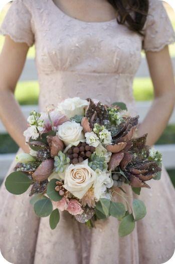 Copper Harvest Wedding Bouquet - Utah Events By Design - Photographer - Tonya Peterson