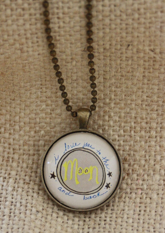 I Love You to the Moon and Back Pendant by CreativeIndependant, $18.00