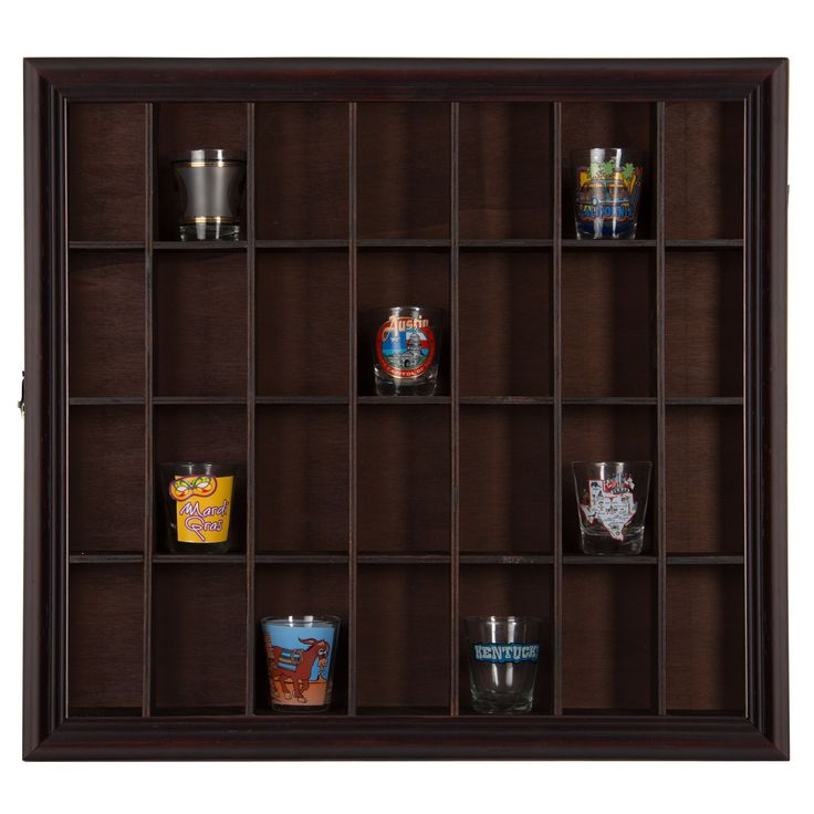 Gallery Solutions Shot Glass Case