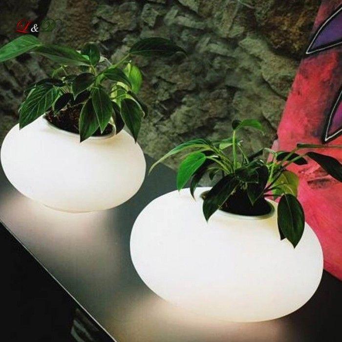 Asztali lámpa FLORA - világító kaspó - Modern Azzardo lámpa