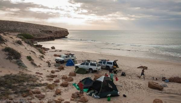 Camping on the beach at Steep Point, Western Australia.