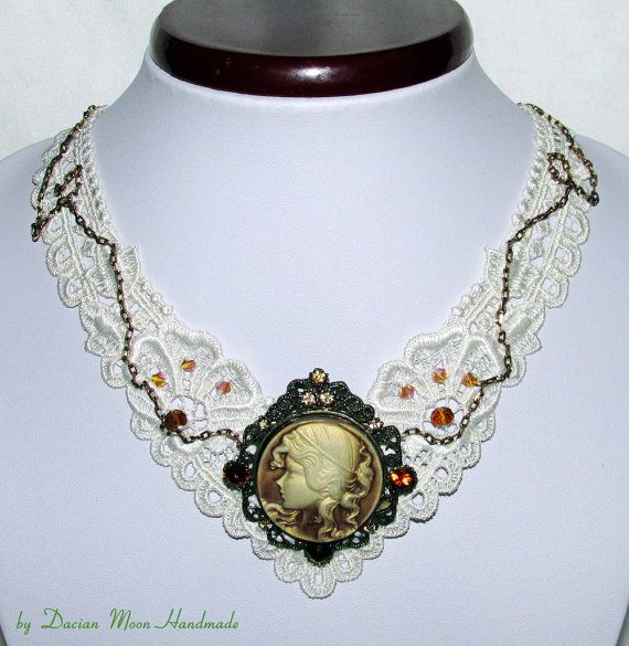 Romantic Elegance necklace lace necklace by DacianMoonHandmade