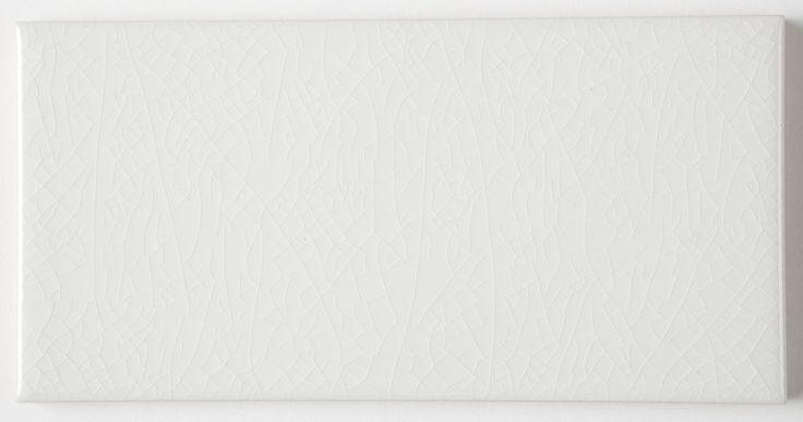 Crackle Glaze White Chapel subway Wall Tiles 7.5x15cm