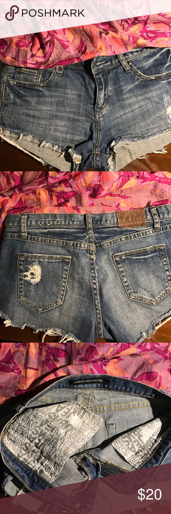 Urban behavior denim daisy dukes Super tiny and low rise! Pair it with wedges or flip flops, either way they'll turn heads as you walk by ;) Shorts Jean Shorts