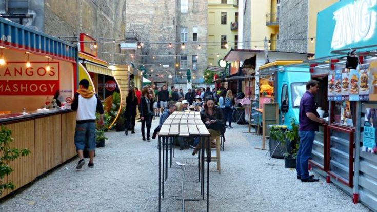 Head to Karaván on Kazinczy Street (right next to Szimpla) to find everything in one place. It's essentially a giant tent filled with food trucks and delicious cuisine. Grab your food to go, or sit down on one of the long benches provided, crack open a beer and make some friendly conversation with the person next to you.