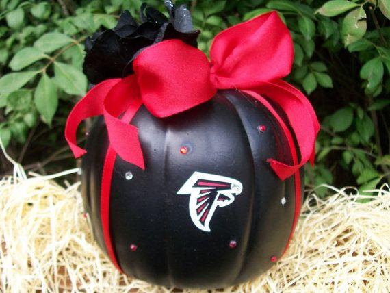 Atlanta Falcons pumpkin...... Going to make a steelers one