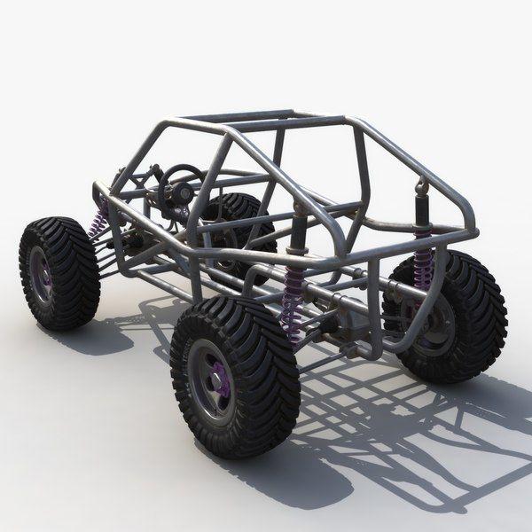 Dune Buggy Chassis Model Turbosquid 1420148 Dune Buggy Go Kart Buggy Buggy