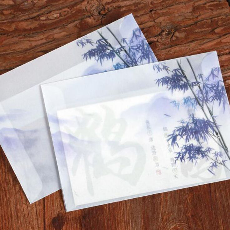 Bamboo Shadow Classical Acid Paper Envelopes Creative Ancient Wind Love Letters Gifts Hand Painted Stationery Dd1077