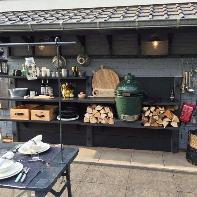 WWOO for VT Wonen WWOO outdoorkitchen outdoor kitchen biggreenegghellip