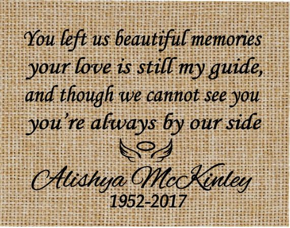 In Memory of a Loved One Personalized Memorial Gift  Memorial