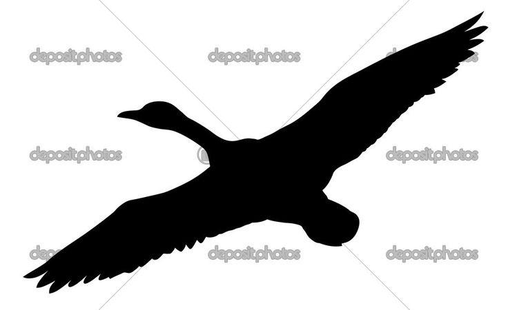 Flying goose tattoo
