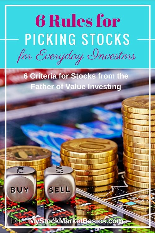 Great tips on picking stocks for your portfolio.I was struggling with trying to get started investing in stocks, but this post has helped me so much.  Six simple rules for finding stocks that fit your investing needs. Stop losing money in the stock market.