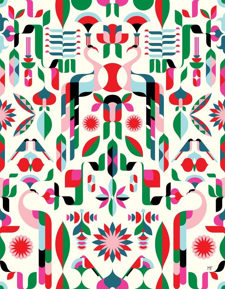Illustrators design bold patterns for Heal's first modern fabric line - Digital Arts