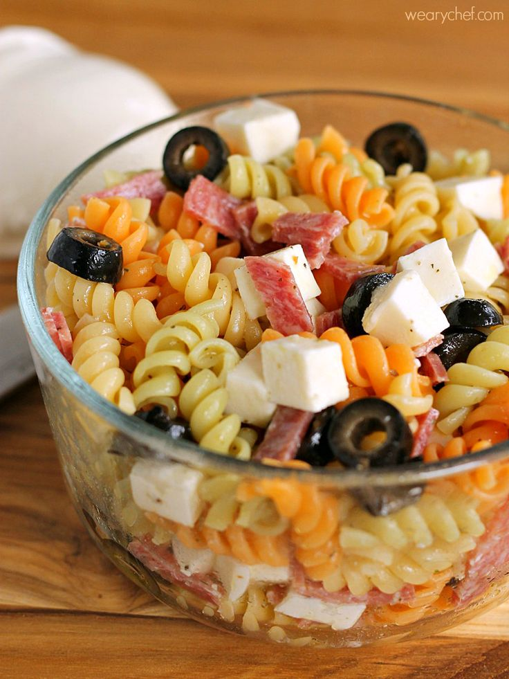 This fun Pizza Pasta Salad is a perfect lunch box recipe. Add some fresh fruit and veggies, and your lunch packing just got a whole lot easier!