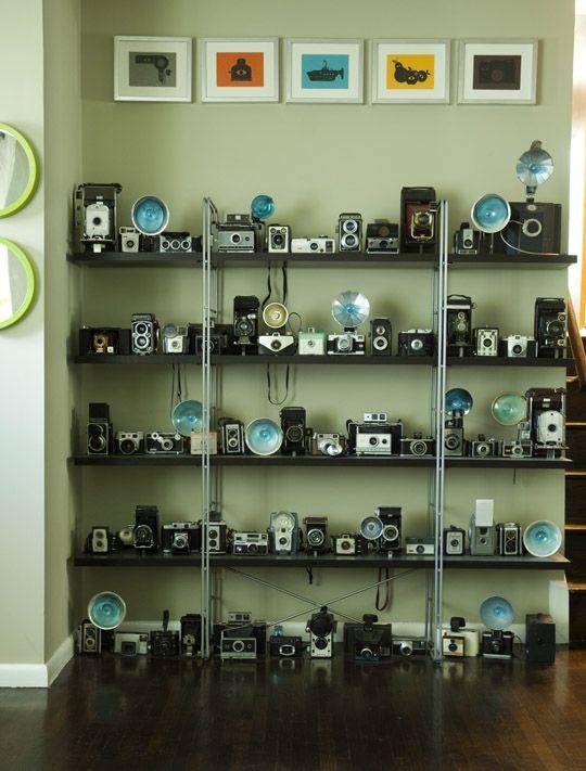 Vintage cameras as art
