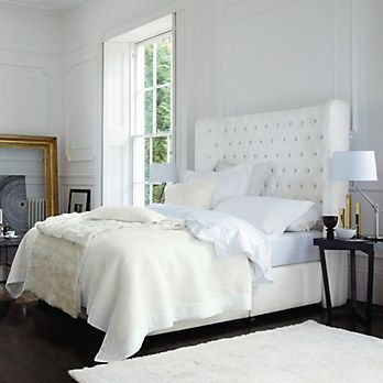 Belgravia Quilt & Cushion Covers - Alabaster | The White Company