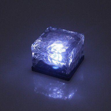 FvLu/ Tegole fotovoltaiche di luci giardino di cristallo cubo via gelata: Amazon.it: Illuminazione