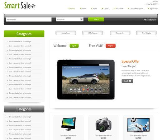 Smart Sale Free #Responsive #HTML5 #CSS3 #Mobileweb Template