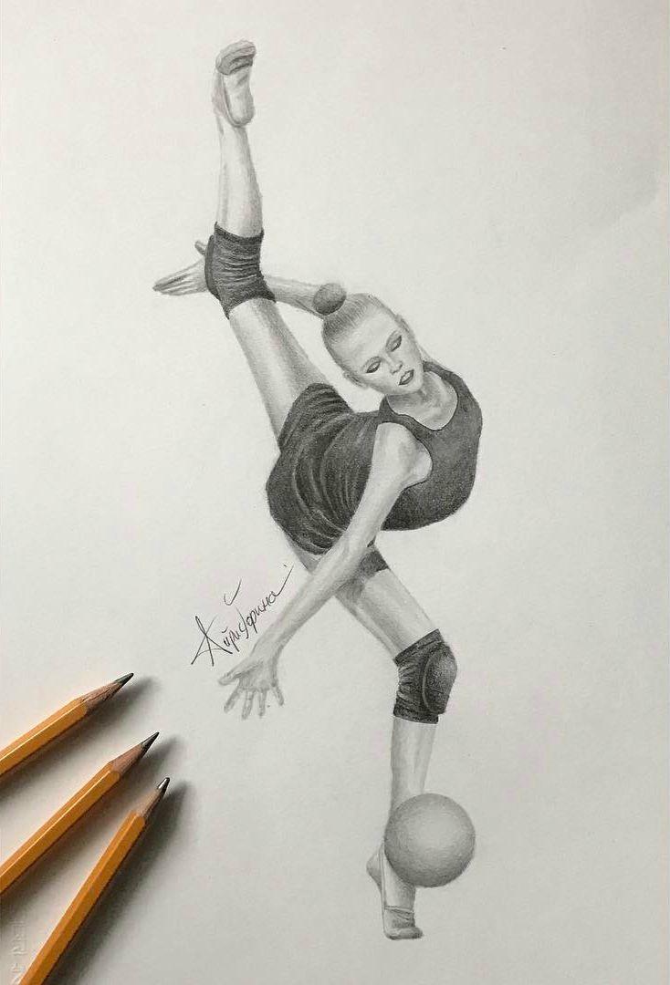 Картинки о гимнастике для срисовки