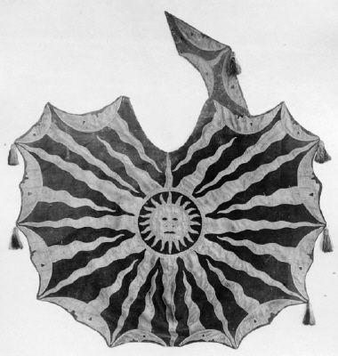 Saddle blanket laid flat. 1650 Kristina of Sweden