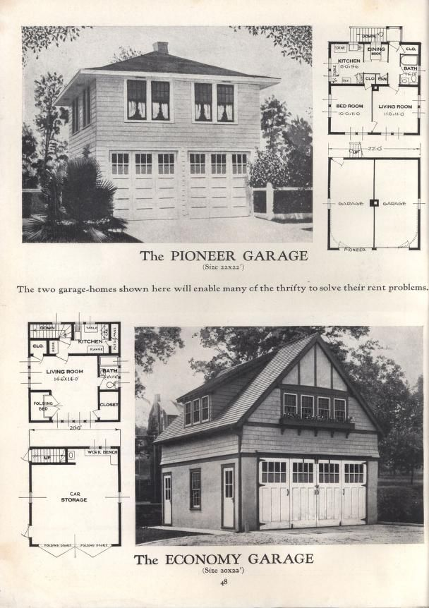 Homes Of Comfort At Low Cost C 15 Carriage House Plans House Plans With Pictures Vintage House Plans