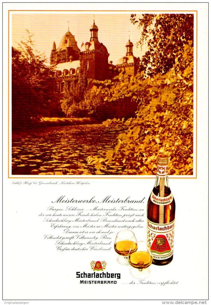 Original-Werbung/ Anzeige 1970 - SCHARLACHBERG MEISTERBRAND / SCHLOSS HARFF BEI GREVENBROICH - ca. 160 x 230 mm