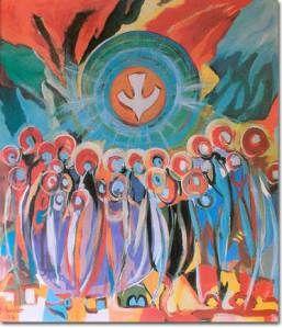 Domingo de Pentecostés MISA VESPERTINA DE LA VIGILIA Textos bíblico-litúrgicos.-Entrada: Rom 5, 5; 10.11; 1era lectura: Joel 3, 1-5; Salmo 103; 2da. Lectura: Rom 8, 22-27; Evangelio: Jn 7, 37-39; C…
