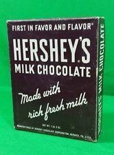 Vintage Hershey's Milk Chocolate 24 Bars Display Box Advertising Candy Empty