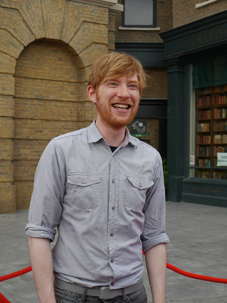 Domnhall Gleeson on the red carpet at The Wizarding World of Harry Potter - #DiagonAlleyPreview.  Diagon Alley opens July 8th!