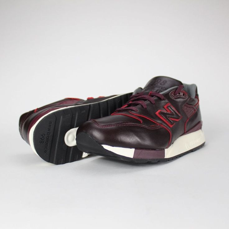 New Balance M998WD Sz 9 5 Horween Leather Burgundy 998 Bespoke Made in The  USA |