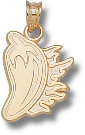 Louisiana (Lafayette) Ragin' Cajuns Cayenne Pepper Pendant - 10KT Gold Jewelry: Enjoy this official NCAA… #Sport #Football #Rugby #IceHockey