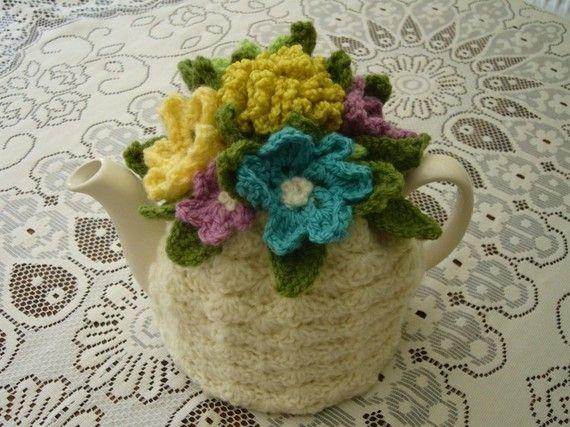 46 Cup Crochet Tea Cosy/ Tea Cozy/ Cosy/ by andrealesleycrochet, $38.00