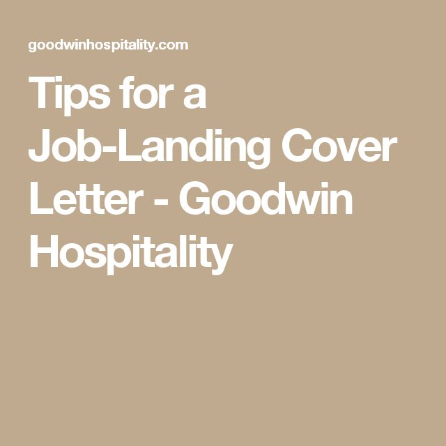 45 best Work images on Pinterest Job interviews, Resume tips and - hospitality cover letter