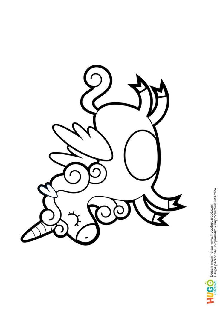 Coloriage Licorne Kawaii En Ligne Gratuit Imprimer Avec 10835753 Et Dessin Kawaii Licorne A ...