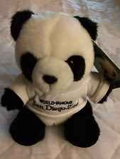 World Famous San Diego Zoo Panda With T-shirt Souvenir Plush Unused With Tag