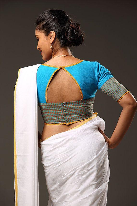Kerala saree with blouse