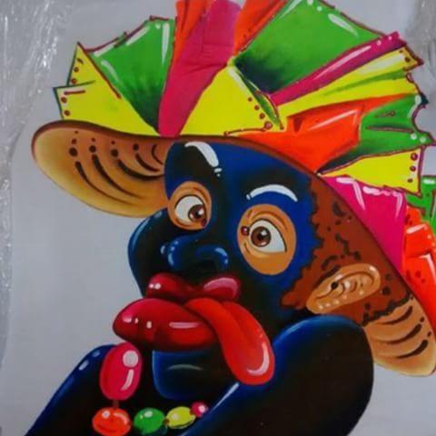 Todo listo para los carnavales... Negro currambero