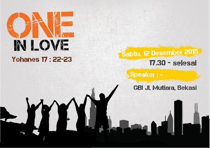 "poster natal ""One In Love""  2"