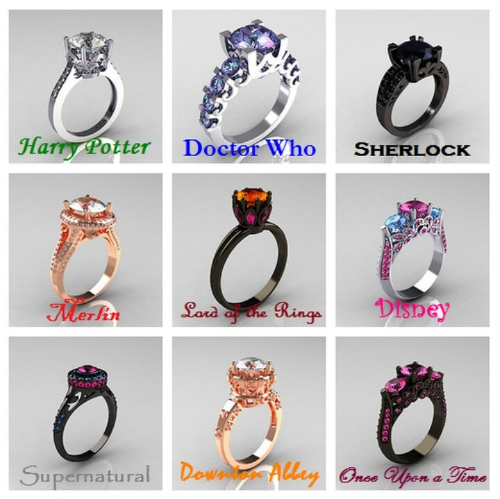 fandom engagement rings jewelry makeup i