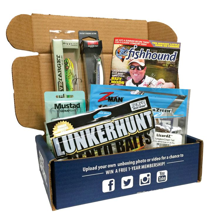 The best monthly fishing subscription box lucky tackle for Fishing gift box