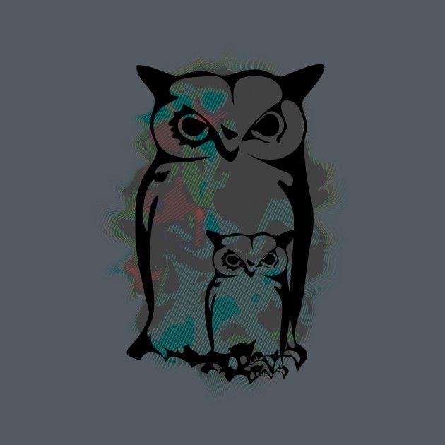 Awesome 'Little+Big+Owls' design on TeePublic!